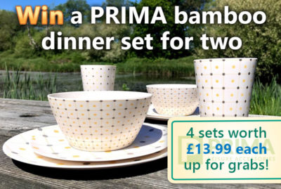Win PRIMA bamboo dinner set for two thumbnail