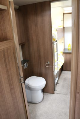 Bailey Phoenix 760 through WC/shower room to rear of caravan