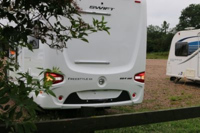 Beware of obstacles behind your motorhome