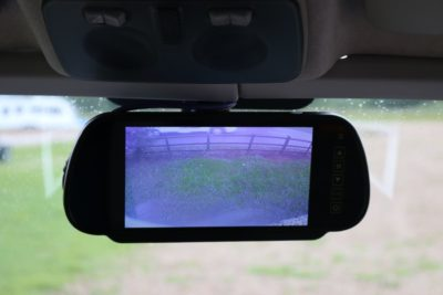 Motorhome reversing camera screen