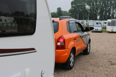 Reverse slowly with your caravan