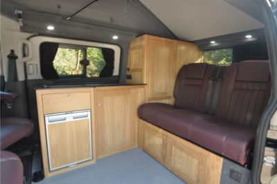 Rolling Homes Kingsley Campervan lounge seating