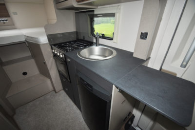 2020 Swift Edge 476 motorhome kitchen