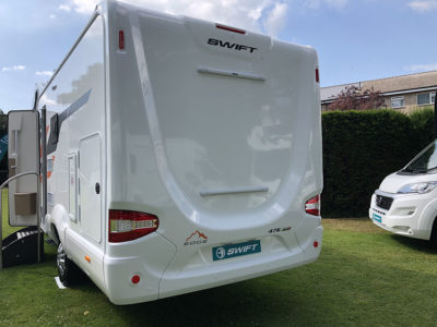 2020 Swift Edge 476 motorhome exterior rear