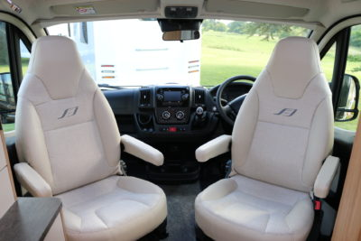 2020 Bailey Autograph fully upholstered captain seats