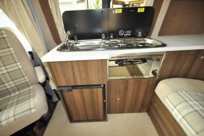 2019 VW Caravaggio campervan kitchen