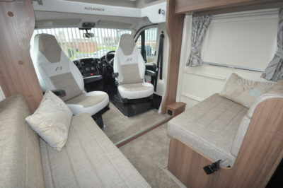 Bailey Advance 764T front lounge