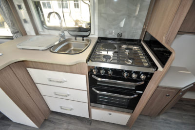 2020 Coachman Laser Xcel 875 caravan kitchen