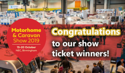Motorhome and Caravan Show 2019 ticket winners thumbnail